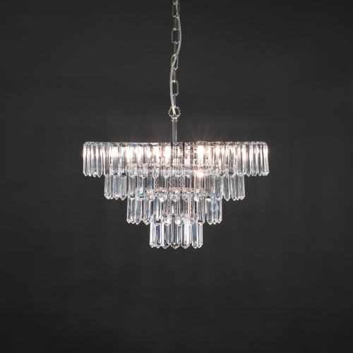 The modern ceiling light Moderna Ice is a unique and impressive crystal ceiling chandelier that creates a fresh atmosphere.