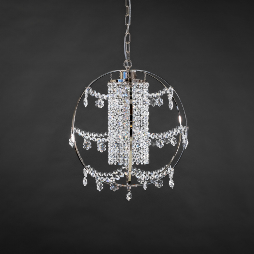 The modern crystal lamp Hiutale represents a unique chandelier design in which a lamp becomes art.