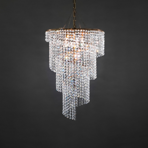 The Spiral 67 crystal chandelier is, as the name implies, a beautiful spiral design and one of the best of our crystal lamps.